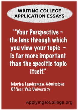 Excellent college application essays