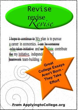 write a successful college essay: revise
