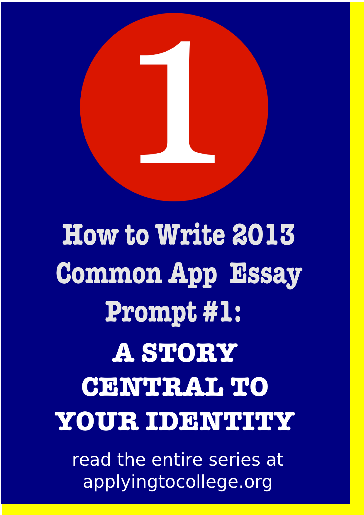 write a foolproof college application essay