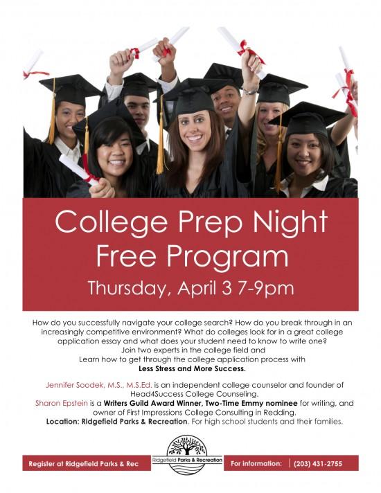 Free College Prep Night April 3 2014