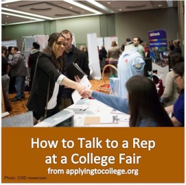 How to talk to a rep at a college fair