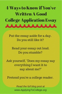 a good college essay