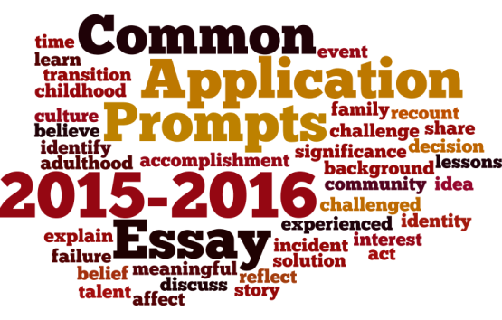 2015-2016 Common Application Essay Prompts