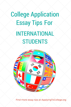 College Application Essay Tips for International Students
