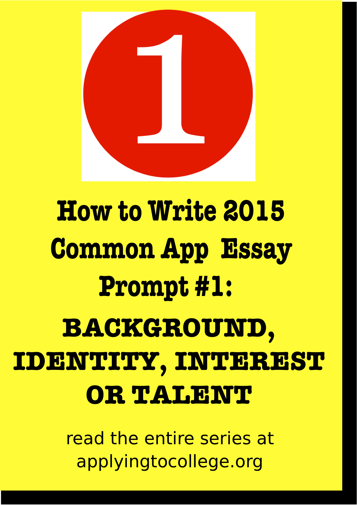 How to start a college admission essay common
