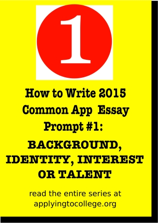 how to write 2015 common app background identity interest or talent essay