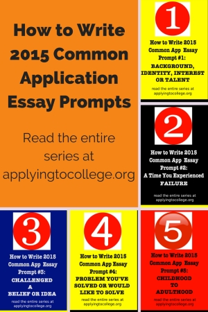 common app essay prompt 3 The last few college acceptance/rejection letters for high school seniors are trickling in, so that can mean only one thing: time for juniors to start the process the common application, commonly known as the common app, has released its list of essay prompts for the fall season.