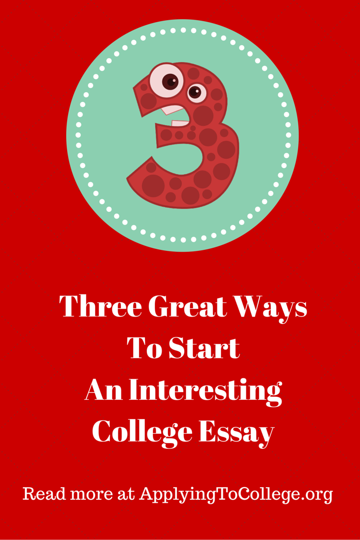 how to start a essay for college See an example of a college application essay, with a point-by-point critique big future logo get how do you start an application essay.
