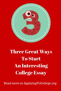 interesting college essays