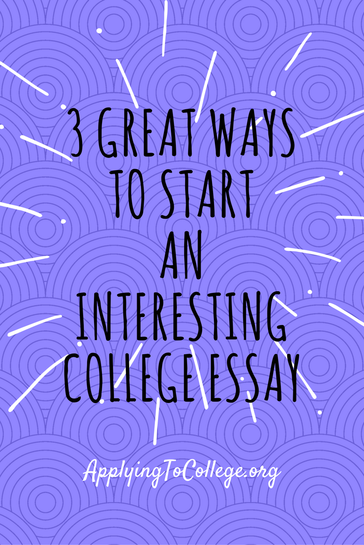 How to start a college admission essay buy