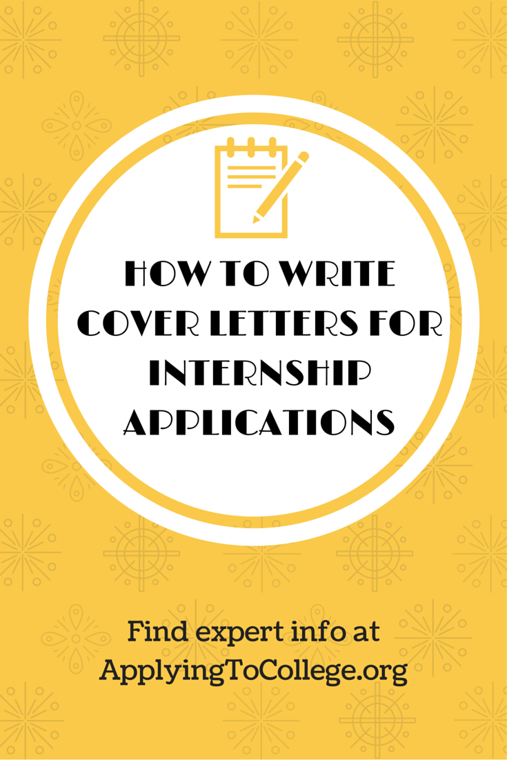 How to write cover letters for internship applications