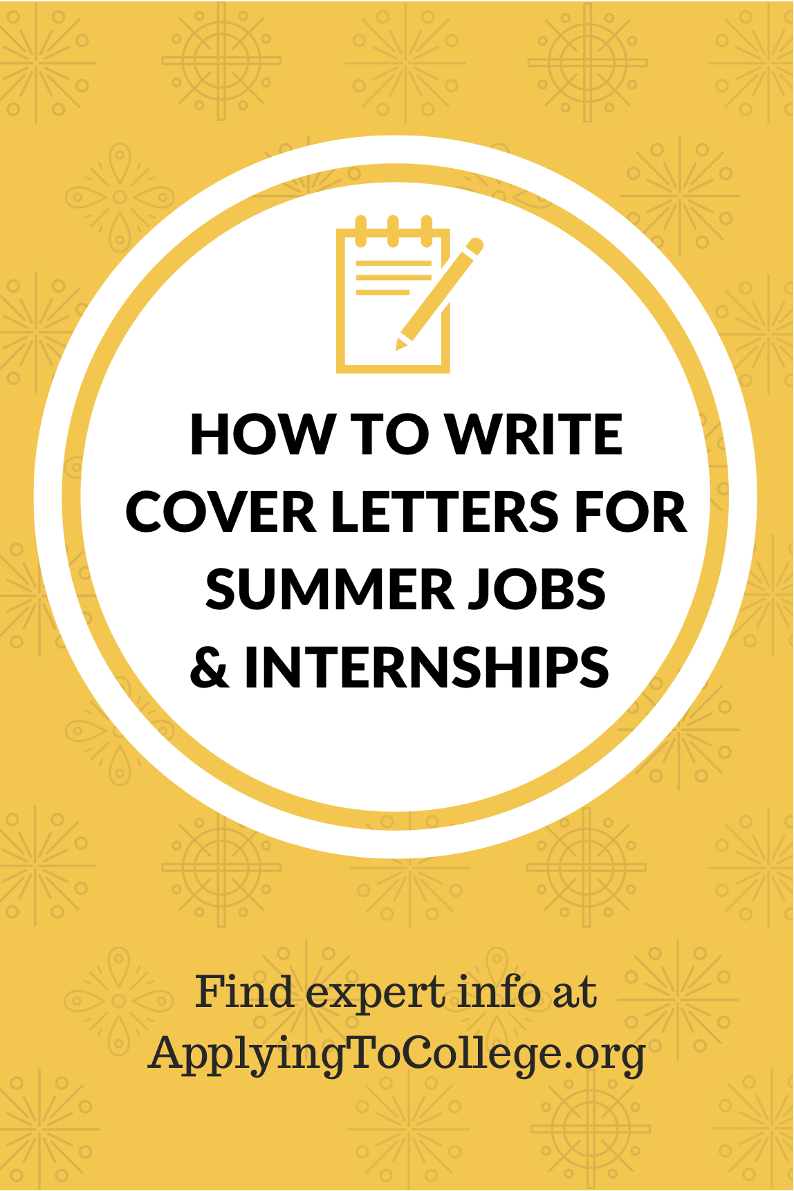 Cover Letters for Summer Jobs and