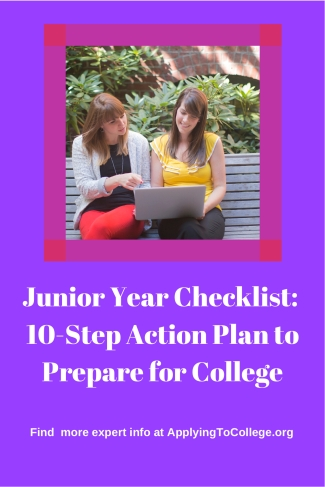 Copy of Junior Year Checklist 10-Step Action Plan to Prepare for College