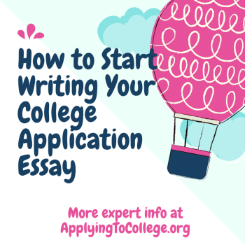 How to start a college admission essay book