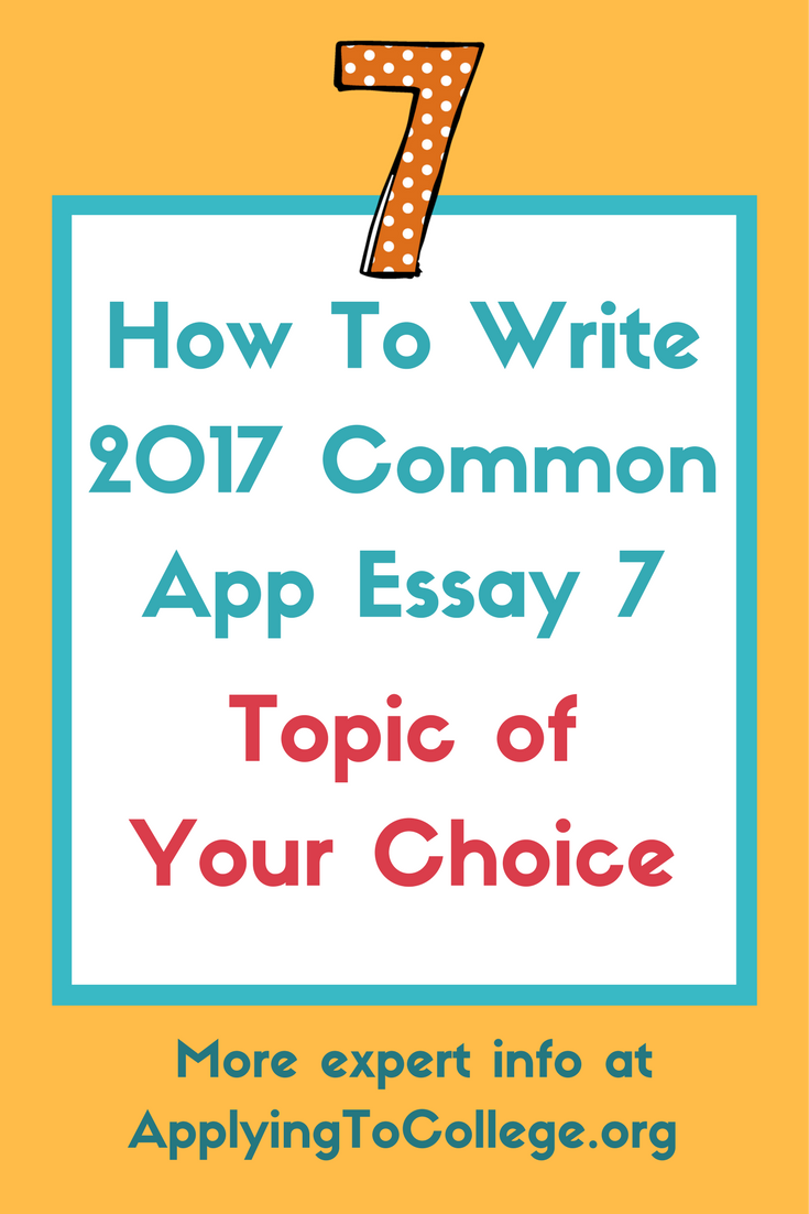 write a great college essay