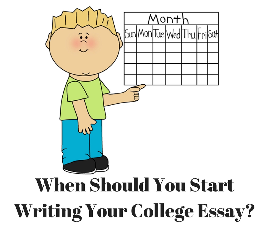 When Should You Start Writing Your College Application Essay