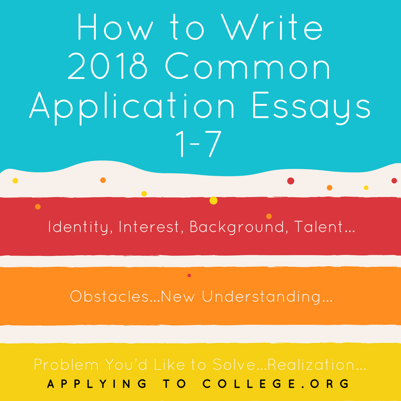 How to Write the Common Application Essay Prompts 1-7 | Applying To ...